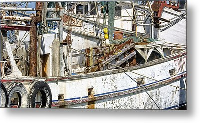 Shrimp Boat Metal Print by Wendell Thompson
