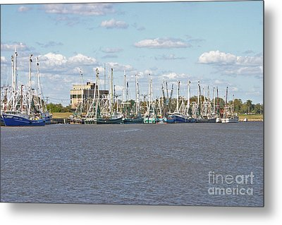 Shrimp Boats 2 Port Arthur Texas Metal Print by D Wallace