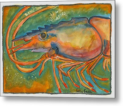 Shrimp Head Metal Print