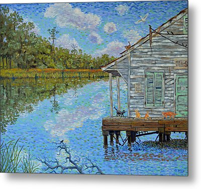 Shrimp Shack Metal Print by Dwain Ray
