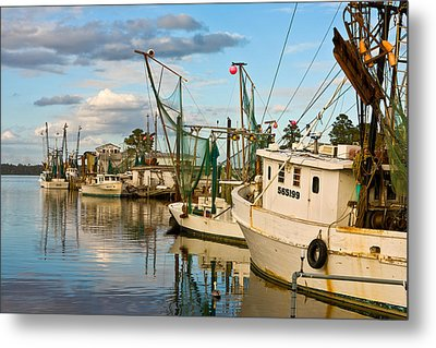 Shrimpers Cove Metal Print by Denis Lemay