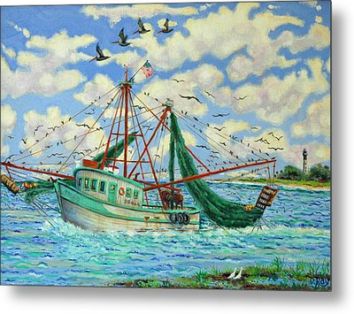 Shrimpin Metal Print by Dwain Ray