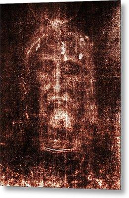 Shroud Of Turin Metal Print by Christian Art