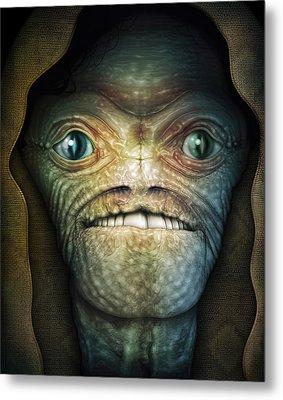 Shrouded Alien Metal Print by James Larkin
