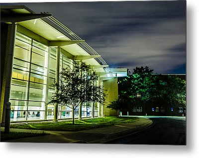 Shs Lower Cafeteria At Night Metal Print