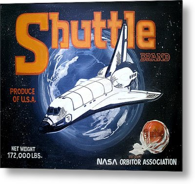 Shuttle Brand Metal Print by Ric Rice
