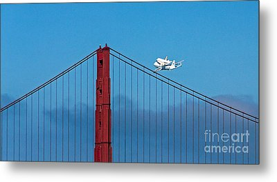 Shuttle Endeavour At The Golden Gate Metal Print