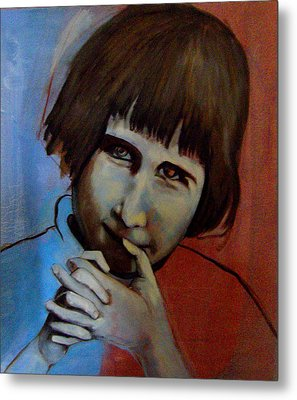 Metal Print featuring the painting Shy by Irena Mohr