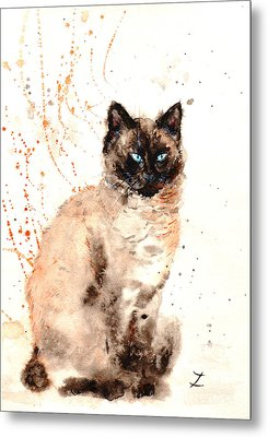 Siamese Beauty Metal Print