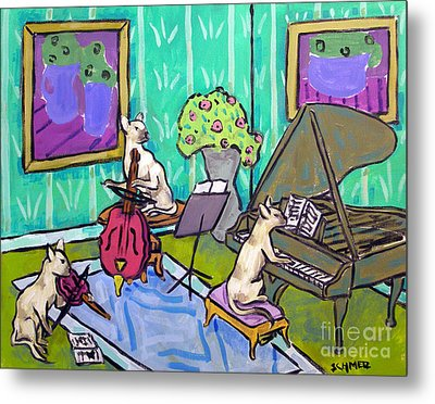 Siamese Cat Trio Metal Print by Jay  Schmetz