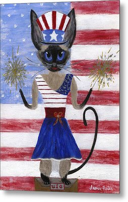 Siamese Queen Of The U S A Metal Print by Jamie Frier