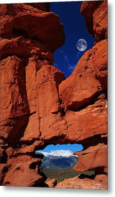 Siamese Twins Rock Formation At Garden Of The Gods Metal Print