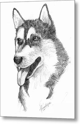 Siberian Husky Metal Print by Tricia Griffith