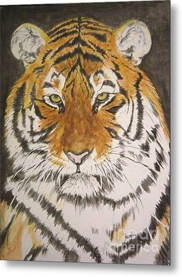 Siberian Tiger Metal Print by Regan J Smith