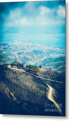 Metal Print featuring the photograph Sicilian Land After Fire by Silvia Ganora