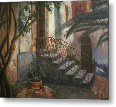 Metal Print featuring the painting Sicilian Nunnery by Donna Tuten