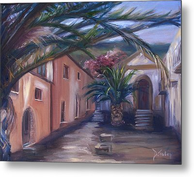 Metal Print featuring the painting Sicilian Nunnery II by Donna Tuten
