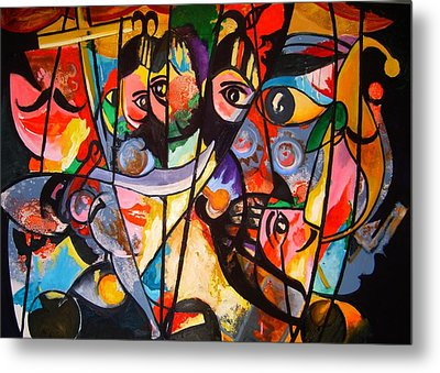 Metal Print featuring the painting Sicilian Puppets I by Georg Douglas