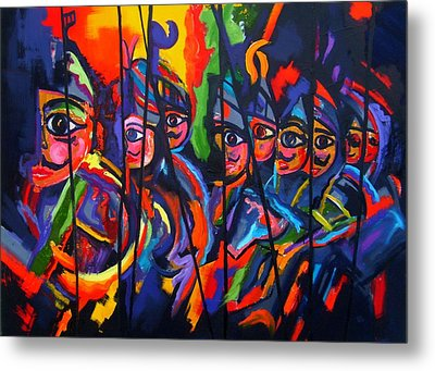 Metal Print featuring the painting Sicilian Puppets II by Georg Douglas