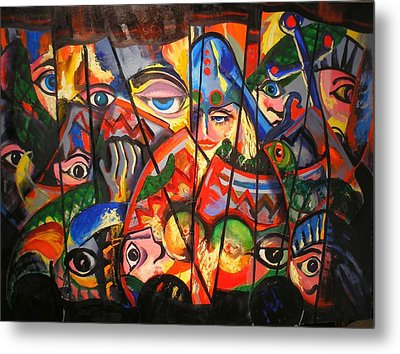 Metal Print featuring the painting Sicilian Puppets IIi by Georg Douglas