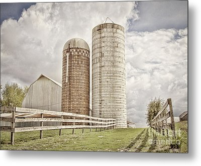 Side By Silo Metal Print