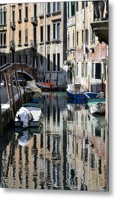 Side Canal Venice Metal Print