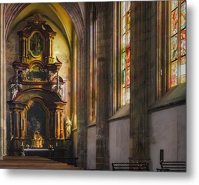 Side Chapel Of St Barbara Metal Print