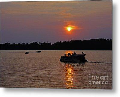 Side Lake Mn Sunset  Metal Print