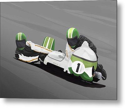 Sidecar Racer Metal Print by MOTORVATE STUDIO Colin Tresadern