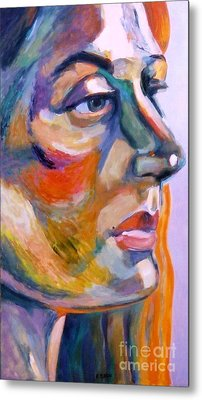 Sideview Of A Woman Metal Print by Stan Esson