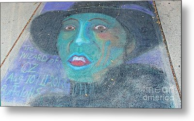 Metal Print featuring the photograph Sidewalk Halloween Contest by Janette Boyd