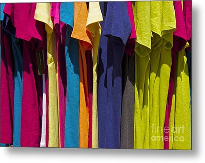 Metal Print featuring the photograph Sidewalk Sales by Alice Mainville