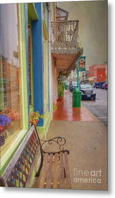Sidewalk Shot Weston Missouri Metal Print by Liane Wright