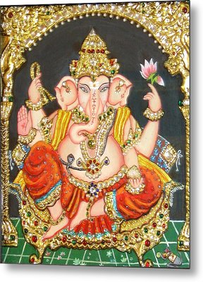 Sidha Ganapathi					 Metal Print by Jayashree