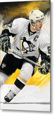 Sidney Crosby Artwork Metal Print by Sheraz A