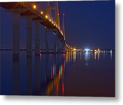 Sidney Lanier At Night Metal Print by Farol Tomson