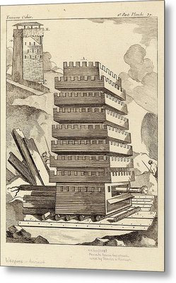Siege Tower Metal Print by Images Of The Ancient World/new York Public Library