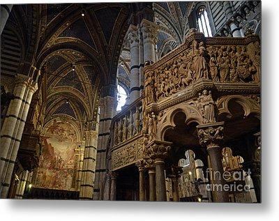 Siena's Duomo Cathedral Metal Print by Sami Sarkis