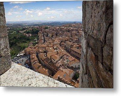 Siena From Above Metal Print by Al Hurley