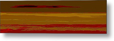 Metal Print featuring the digital art Sienna Vista by Anthony Fishburne