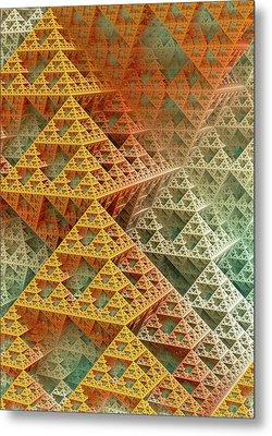 Sierpinski Triangles Metal Print by David Parker