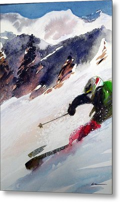 Metal Print featuring the painting Sierra At Tahoe by Ed  Heaton