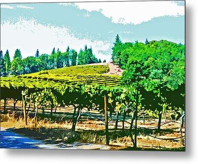 Sierra Foothills Vineyard Metal Print by Charlette Miller