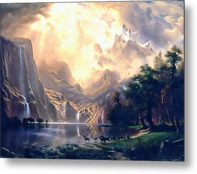 Sierra Nevada Ode To Bierstadt Dedication Metal Print by Georgiana Romanovna
