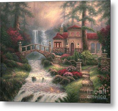 Sierra River Falls Metal Print by Chuck Pinson