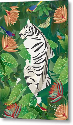 Siesta Del Tigre - Limited Edition 2 Of 15 Metal Print