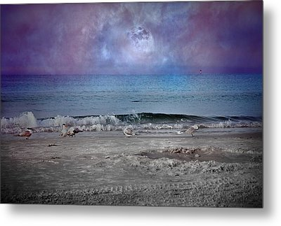Siesta Key Moon In My Pocket Metal Print