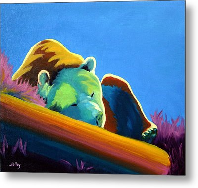 Metal Print featuring the painting Siesta Time by Nancy Jolley