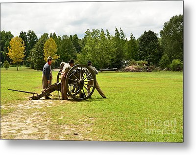 Sighting In Of A Civil War Canon Metal Print by Bob Sample