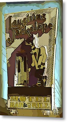 Sign Of The Jackalope Metal Print by John Malone